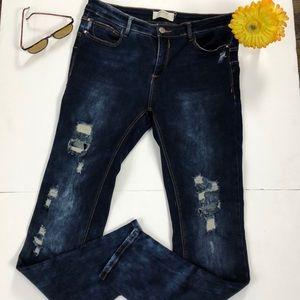 Stradivarius Distressed Jeans Dark Wash EUR 40